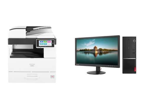 stampante e computer da ufficio